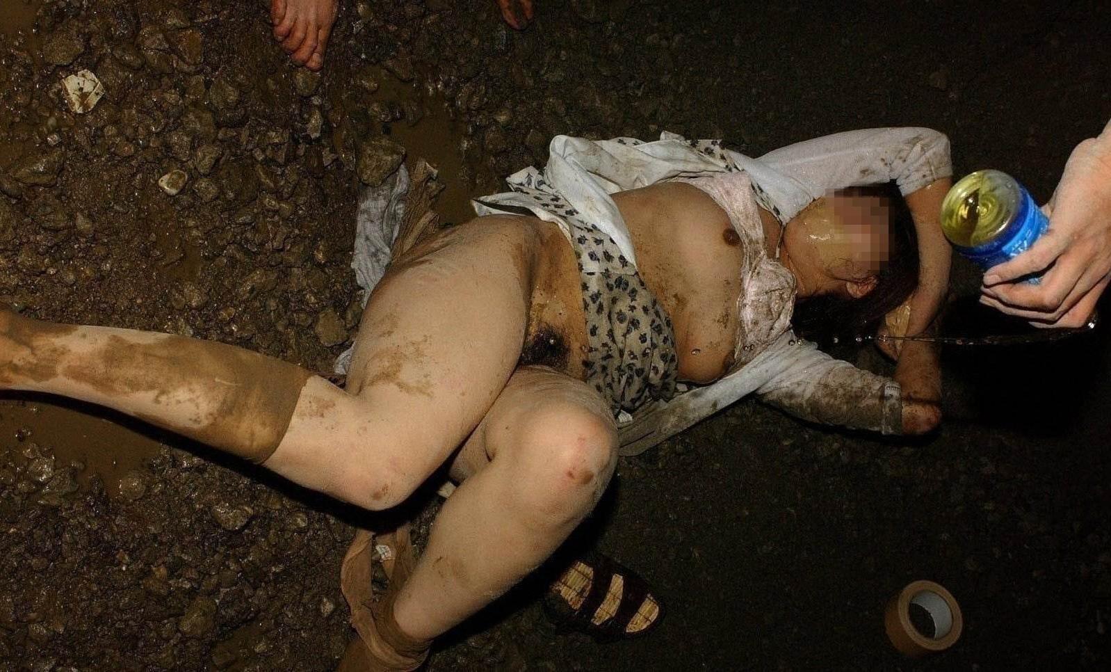 【レイプ事後画像】これが本物のヤリ捨て女wwwレイプ被害に遭った女の事後がアウト過ぎるwwww その8